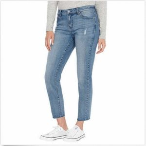 Buffalo.D.B Ladies' Straight Leg Raw Edge Jeans